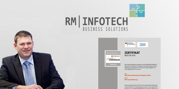 RM-Infotech empfängt Innovationspreis